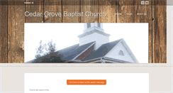 Preview of cedargrovebaptistchurch.org