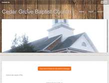 Tablet Preview of cedargrovebaptistchurch.org